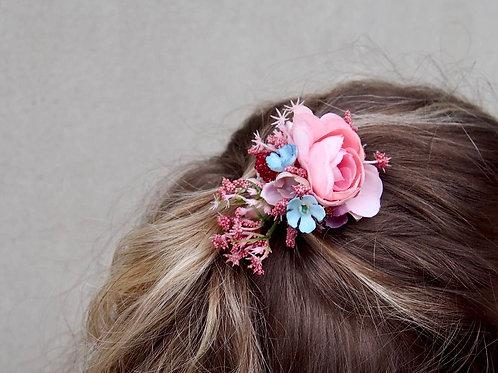 Vlasová Spona/Brož Rosa Turquoise