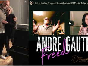 André Gauthier HOME after Dubai jail nightmare