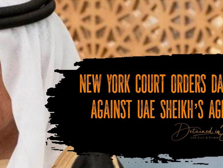 """NY Court orders damages for man targeted by UAE Sheikh & his US agents because he """"knew too much"""""""