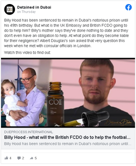 5 News TV report on Billy Hood cast with family & Radha Stirling, CEO of Detained in Dubai