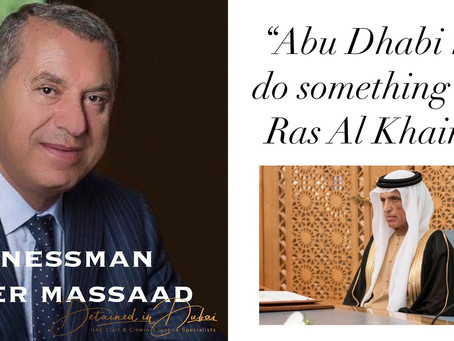 """Abu Dhabi needs to do something about Ras Al Khaimah"""