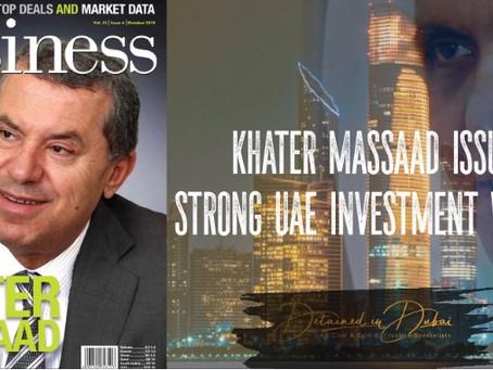 Dr Khater Massaad targeted by Sheikh Saud bin Saqr al Qassimi