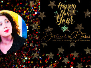 Radha Stirling, CEO of Detained in Dubai and host of Gulf in Justice, wishes a Happy New Year!