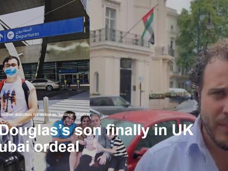 Albert Douglas's son finally in UK after Dubai ordeal