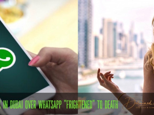 "Women stuck in Dubai over WhatsApp ""frightened to death"""