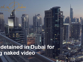 Group detained in Dubai for sharing naked video