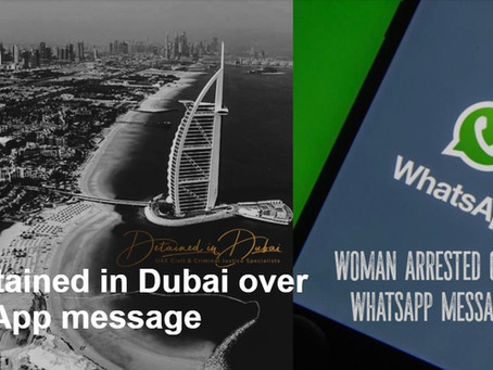 Brit detained in Dubai over WhatsApp message