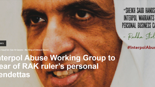 Interpol Abuse Working Group to hear of RAK ruler's personal vendettas