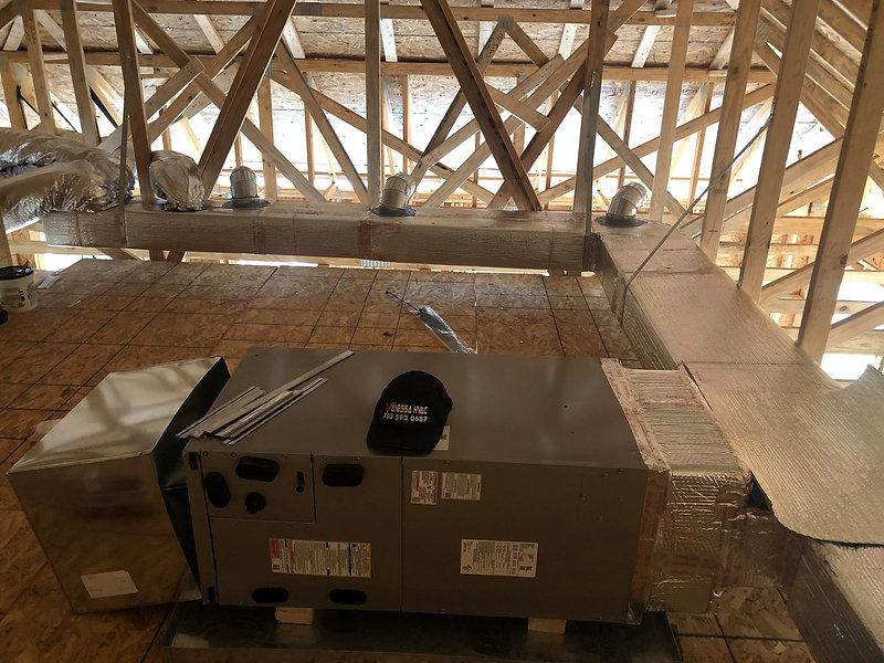 Ductwork installation in Winchester VA.j
