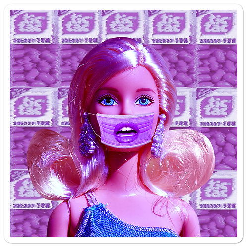 Quarantined Barbie Sticker