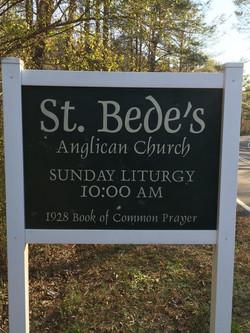St. Bede's Sign