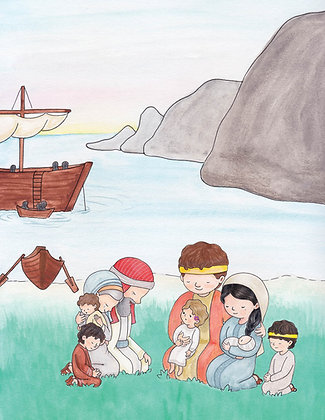 "PDF Instant Download 8.5x11 ""Arriving at the Promised Land"" Lehi and his Family"