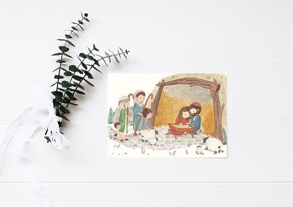 Nativity Christmas Card - 4x6 PDF download