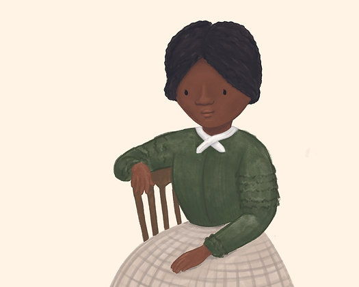 8x10 PDF illustration of Harriet Tubman