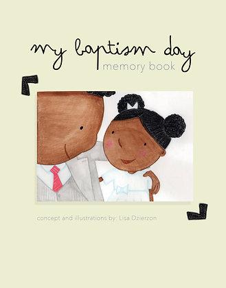 Baptism Memory Book PDF Download - Dark Skinned Girl