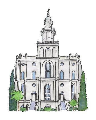 St. George Utah Temple 8x10 PDF Download