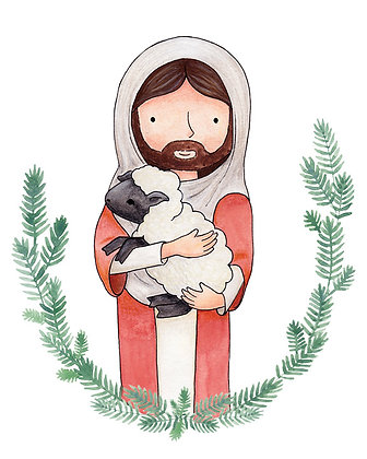 PDF Instant Download The Lamb of God - Jesus with Lamb - The lost sheep