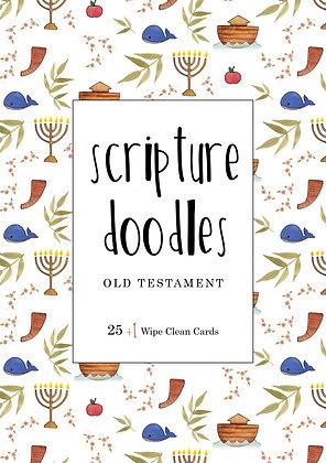 Old Testament Scripture Doodles Dry Erase Cards Set of 26 WITHOUT felt envelope