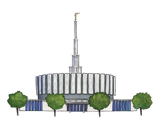 Provo Utah Temple 8x10 PDF Download