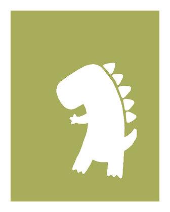 Dinosaur Nursery Wall Hangings - 8x10 PDF download
