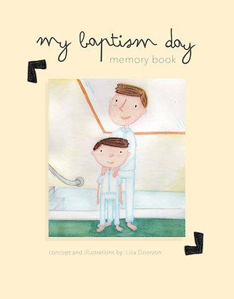 Baptism Memory Book PDF Download - Light Skinned Boy