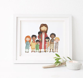 More Nations than One- Jesus with Children from all over the World 8x10 print