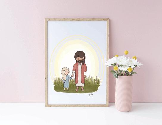 """8x10 PDF Download Print """"Jesus is my Friend"""""""