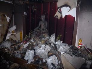 Shrine post-fire