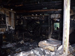 Damage from the fire