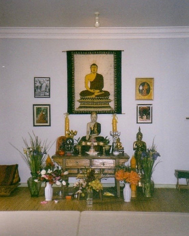 The original shrine as 'Sanghāloka Forest Hermitage'