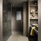SDB béton ciré douche italienne Chambre YELLOW