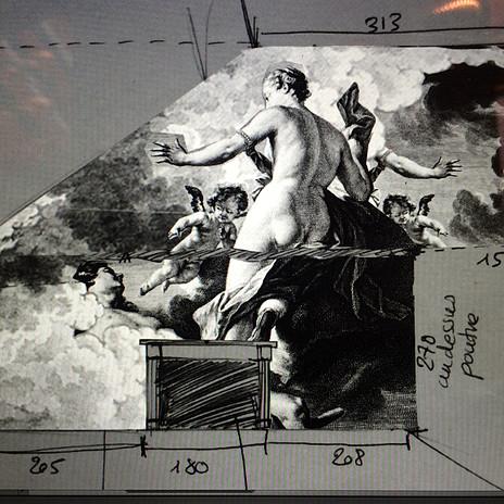 Projet du Collage sur le pignon