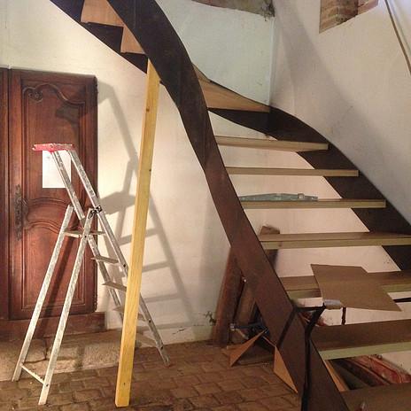 Après : un escalier aérien de JM Unger