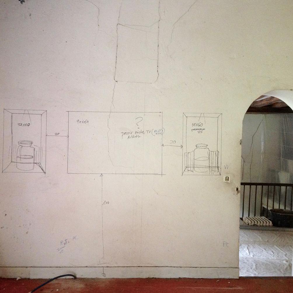 Croquis des futures niches d'Ockra