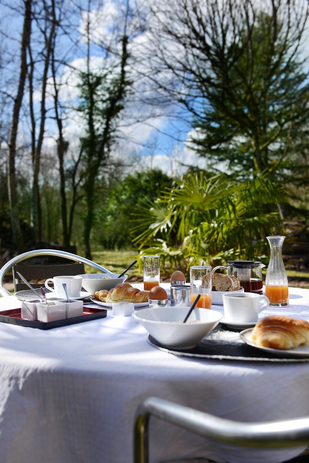 petit-déjeuner au Domaine de l'Ocrerie