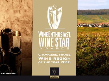 Les Wine Enthusiast Award célèbrent la Champagne !!!