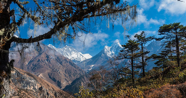 Adventure Coaching, Mt Everest from Everest view hotel