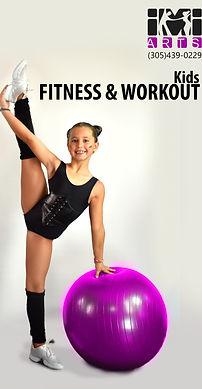 Workout fitness dance class