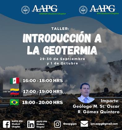 Taller Introducción a la Geotermia