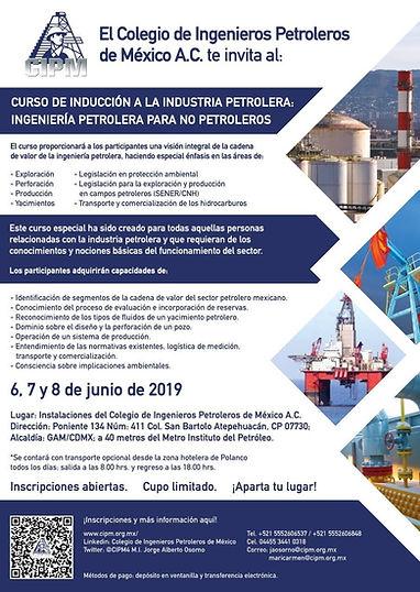 Curso de Inducción a la Industria Petrolera: Ingeniería petrolera para no petroleros