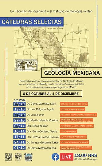 Cátedras selectas de la Geología de México