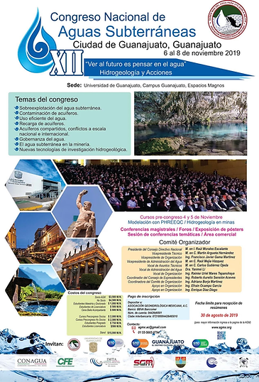 Congreso Nacional de Aguas Subterráneas 2019