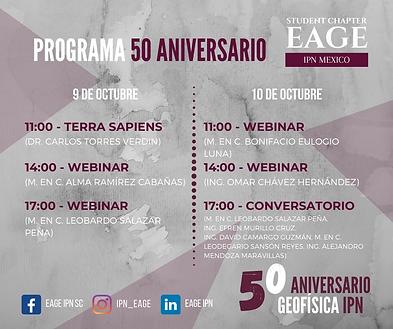 Programa 50 aniversario de la carrera de Ingeniería Geofísica en el IPN