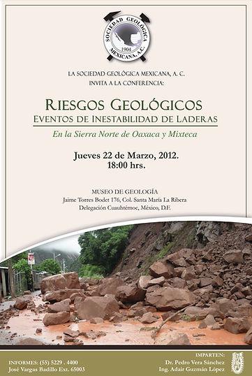 Riesgos Geológicos Eventos de inestabilidad de laderas en la Sierra Norte de Oaxaca y Mixteca