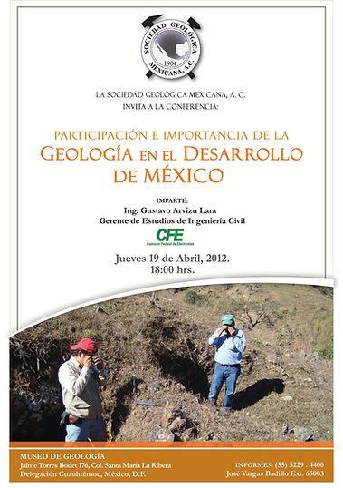 Participación e importancia de la Geología en el Desarrollo de México