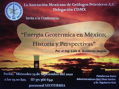 Energía Geotérmica en México; Historia y Perspectivas