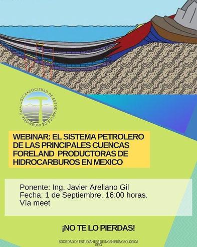 Webinar: El sistema petrolero de las principales cuencas foreland productoras de hidrocarburos en México.
