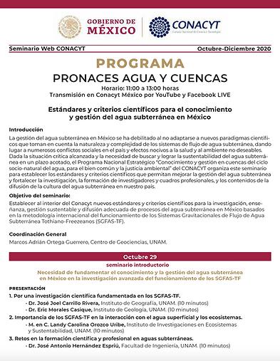 Estándares y criterios científicos para el conocimiento y gestión del agua subterránea en México
