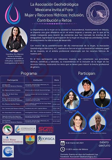 Foro Mujer y recursos hídricos: Inclusión contribución y retos