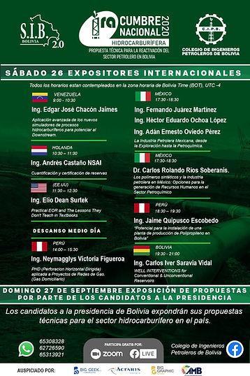 1ra Cumbre Nacional Hidrocarburífera 2020. Propuesta Técnica de Reactivación del sector Petrolero en Bolivia